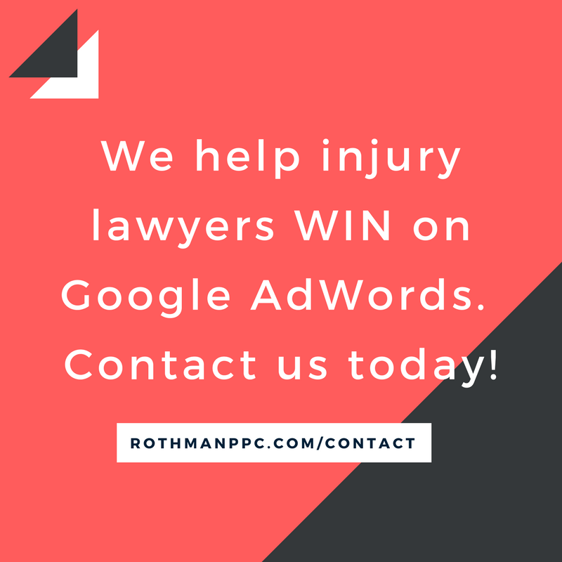 We help injury lawyers WIN on Google AdWords