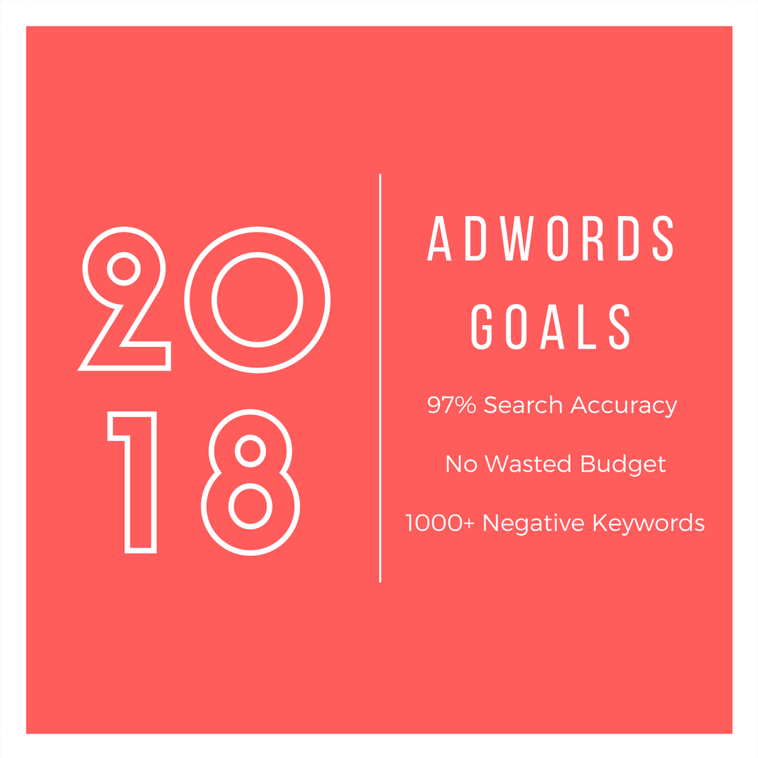 2018 AdWords Goals