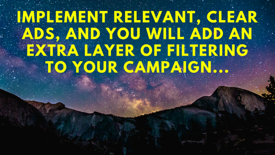 Implement relevant and clear ads