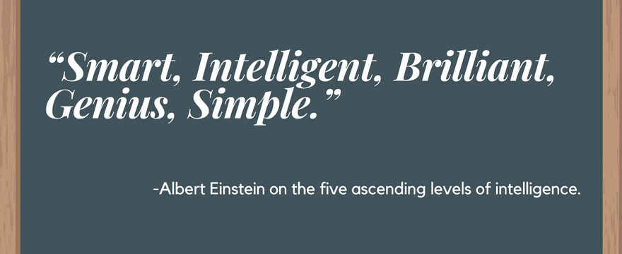Albert Einstein Simple Quote On Intelligence