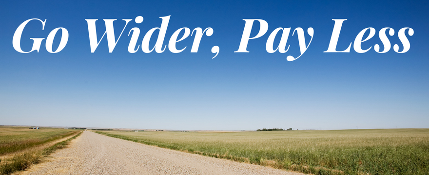 Go Wider, Pay Less