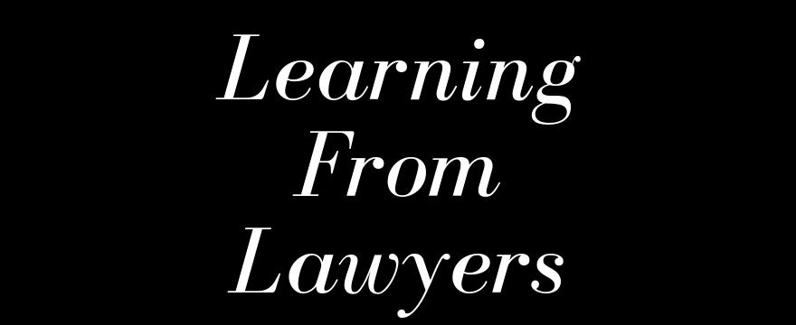 Learning from injury lawyers