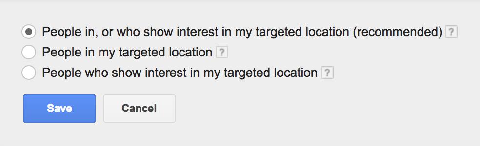 advanced location setting