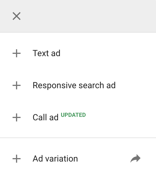 call ads google ads
