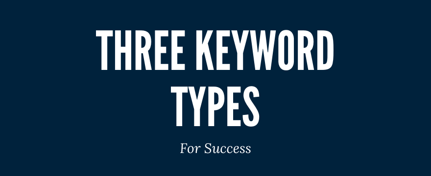 three keyword types google ads